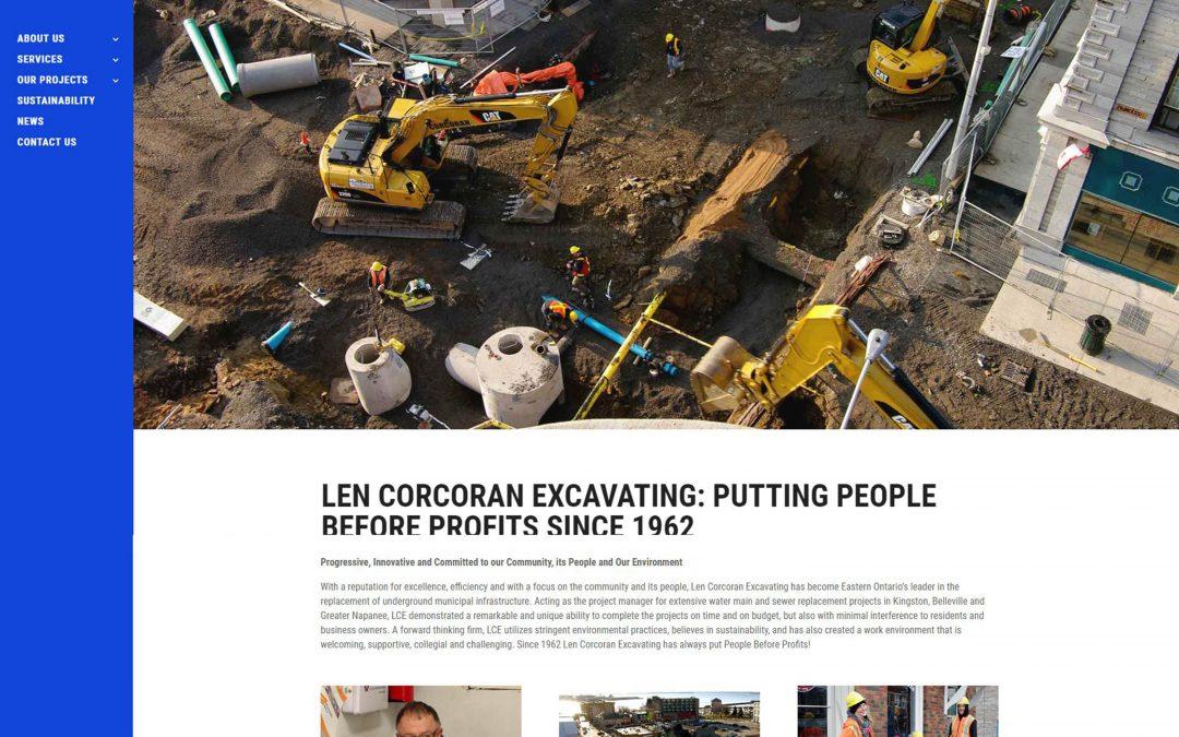 Len Core Excavation Website